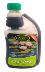 Blagdon Green Away 1000ml clears pond algae Interpet